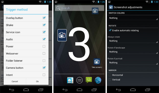 Schermate dell'app Screenshot Ultimate per Android