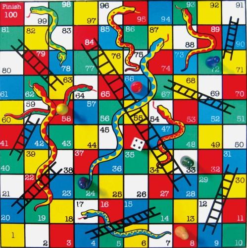 Schermata del gioco da tavola Snakes and Ladders per smartphone