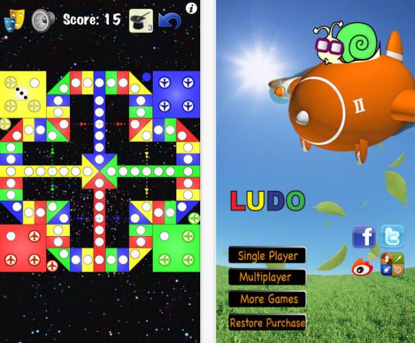 Schermata del gioco da tavola Ludo per smartphone