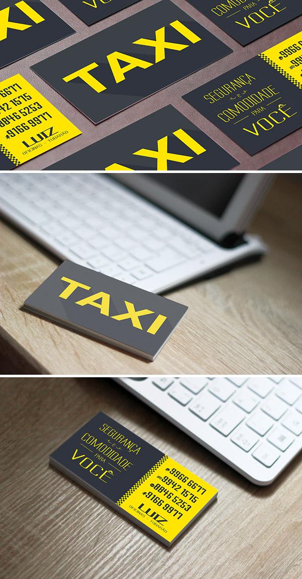 Immagine del biglietto da visita per autisti di taxi n.04