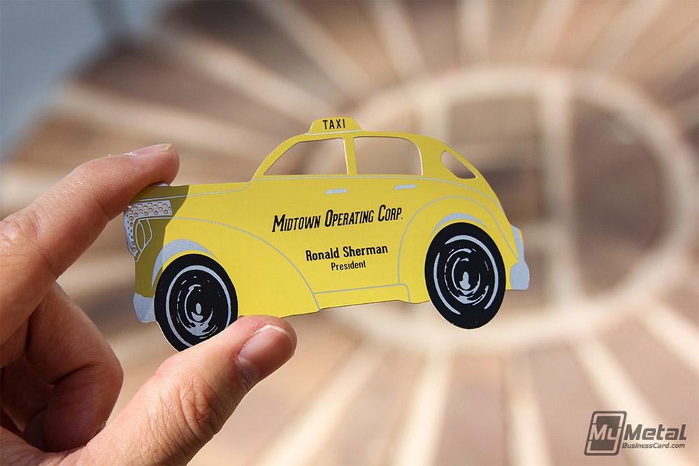 Immagine del biglietto da visita per autisti di taxi n.09
