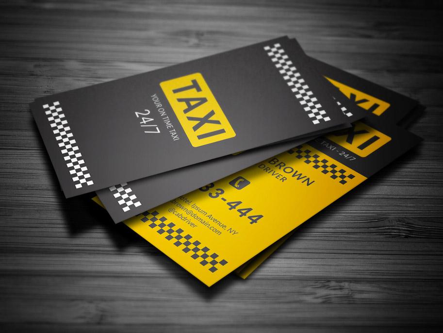 Immagine del biglietto da visita per autisti di taxi n.14