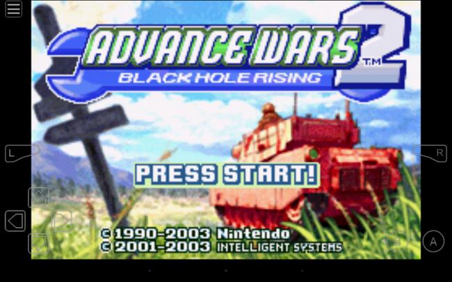 Esempio di utilizzo dell'emulatore My Boy! Game Boy Advance Emulator su Android