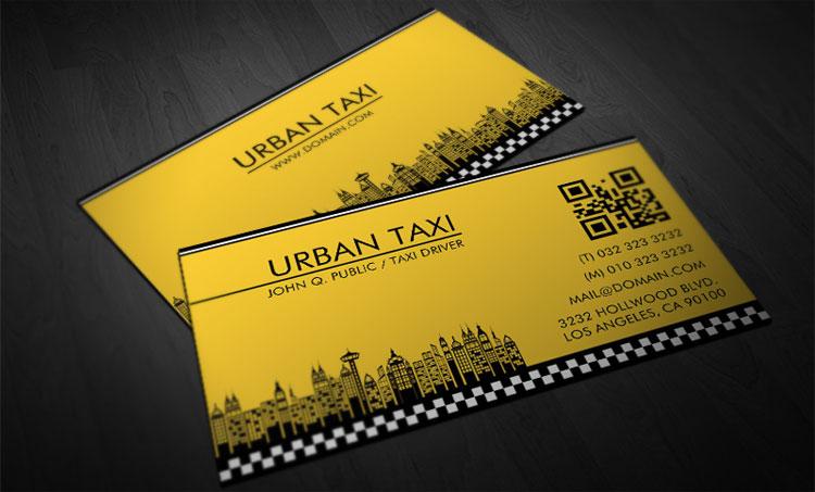 Modelli di biglietti da visita per autisti di taxi