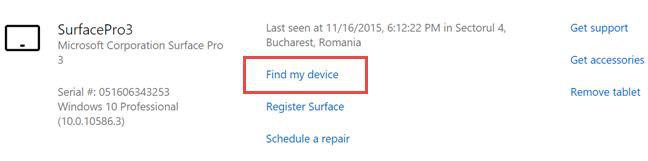 """Pulsante """"Trova il mio dispositivo"""" su Windows 10"""