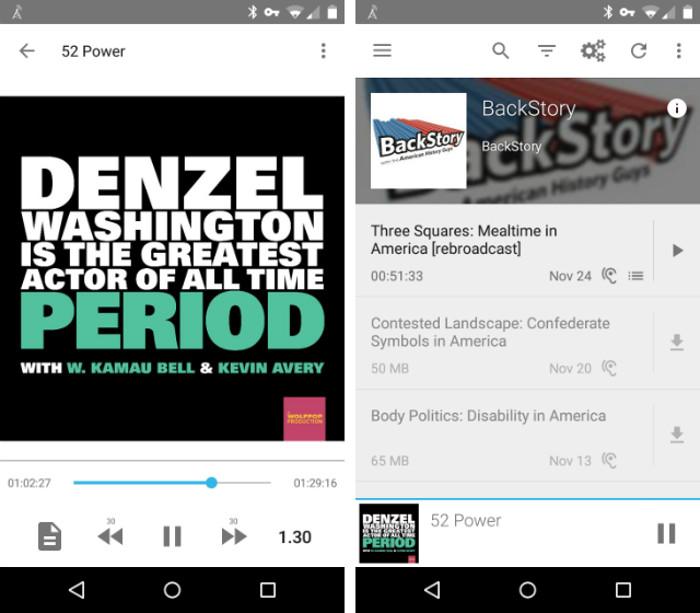 Schermate dell'app AntennaPod per Android
