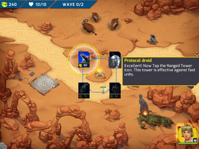 Immagine del gioco Star Wars: Galactic Defense per Android e iOS