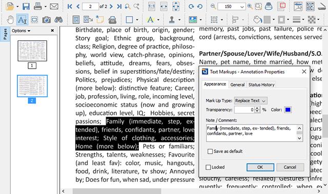 Schermata del programma PDF Studio per modificare PDF su Linux