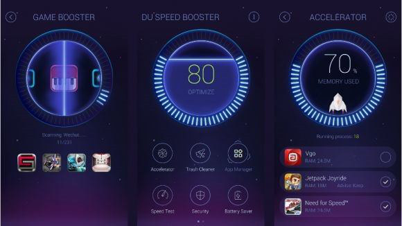 Schermate dell'app DU Speed Booster per Android