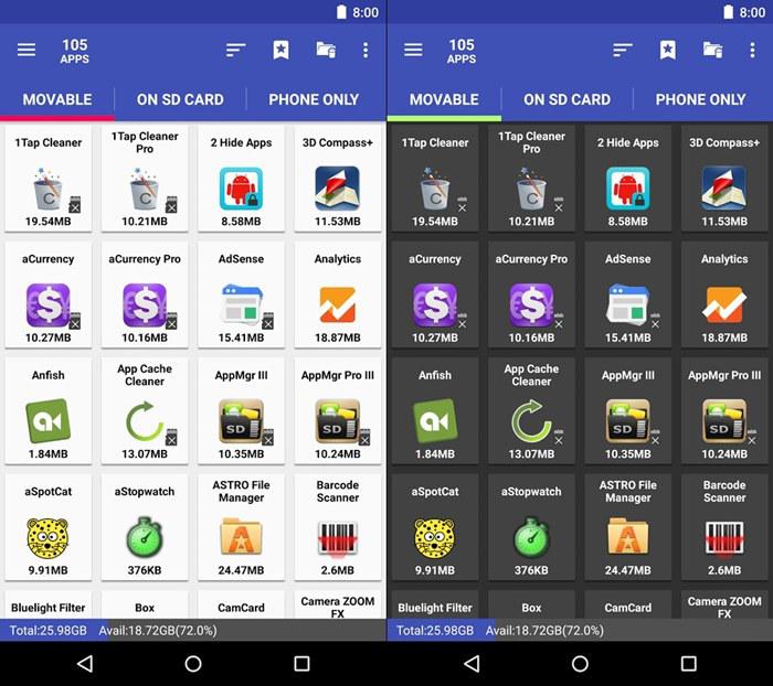 Schermate di App MGR III per Android