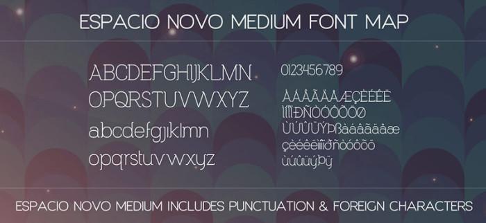 Anteprima del font Espacio Novo