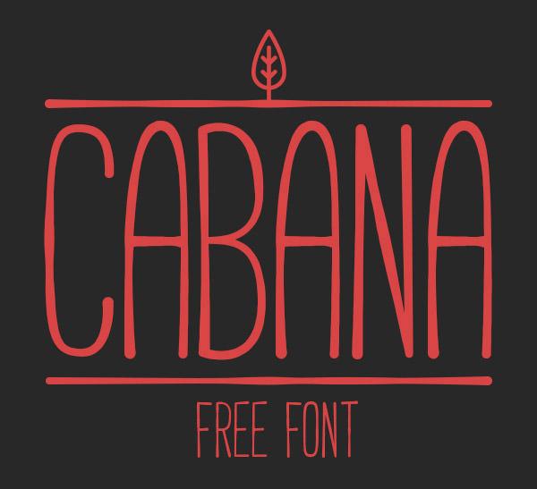Anteprima del font Cabana