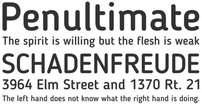Anteprima del font Blogger Sans