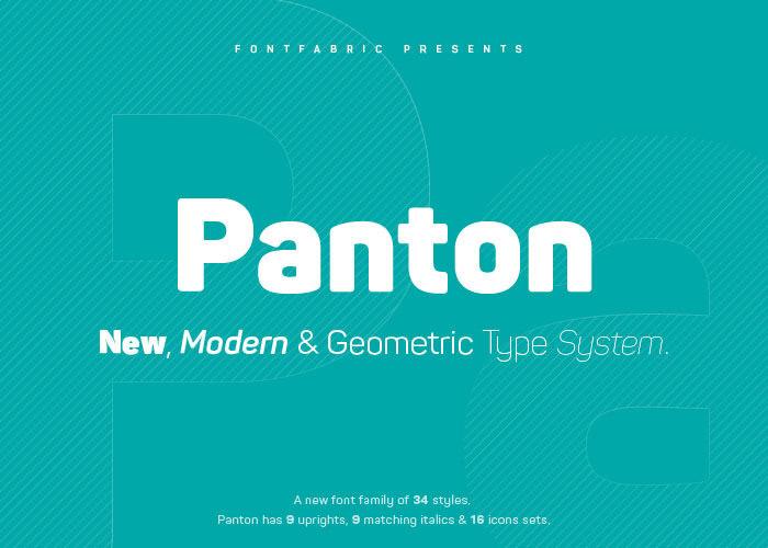 Anteprima del font Panton