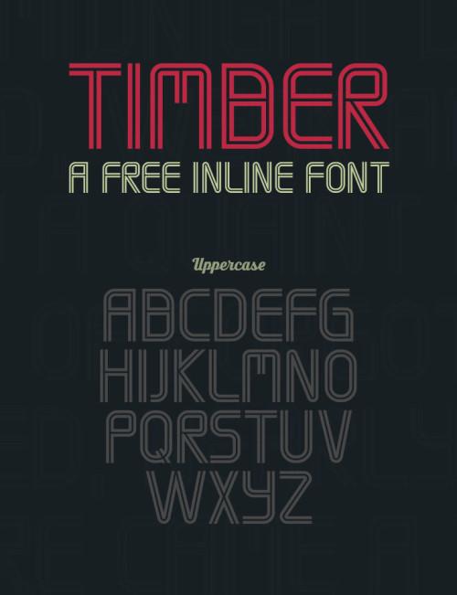 Anteprima del font Timber