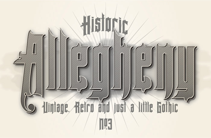 Anteprima del font Allegheny