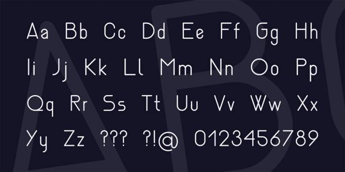 Anteprima del font Nemesia