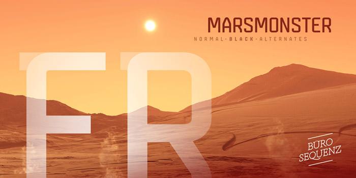 Anteprima del font Marsmonster