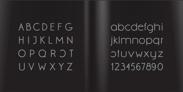 Anteprima del font