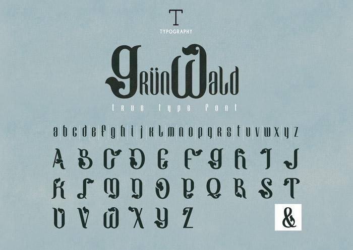 Anteprima del font Grunwald