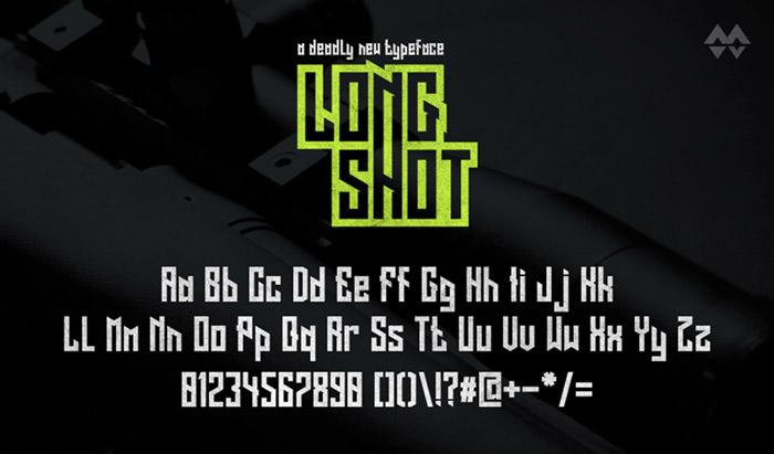 Anteprima del font Long Shot