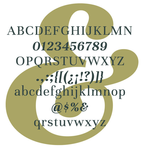 Anteprima del font Unna