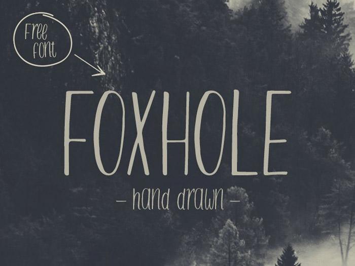 Anteprima del font Foxhole