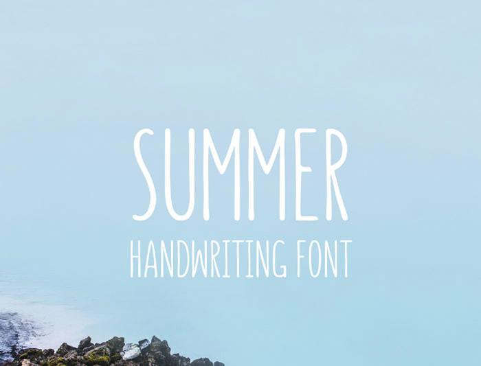 Anteprima del font Summer