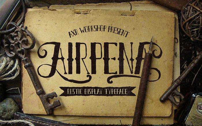 Anteprima del font AXR Airpena