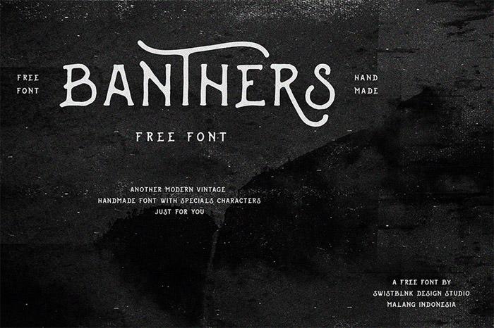 Anteprima del font Banthers