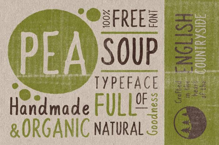 Anteprima del font Pea Soup