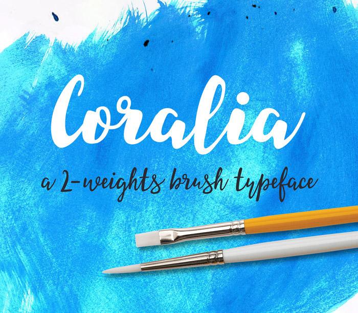 Anteprima del font Coralia