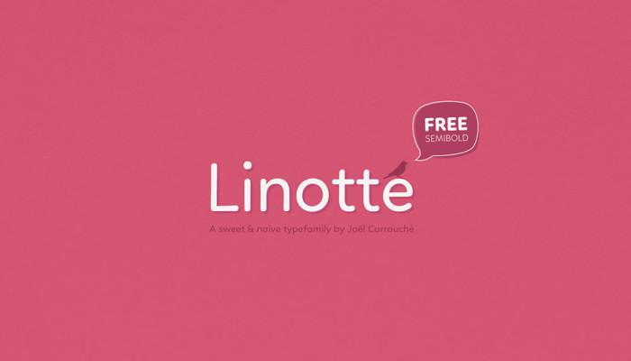 Anteprima del font Linotte