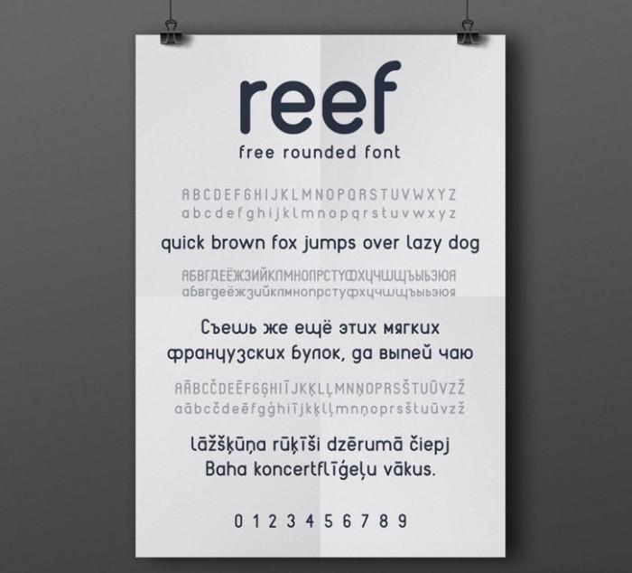 Anteprima del font Reef