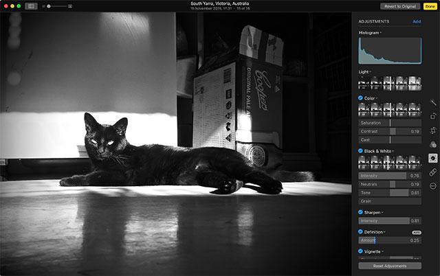 Interfaccia del programma Photos per Mac