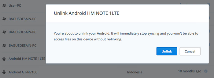 Scollegare gli account in utilizzo sul cellulare Android