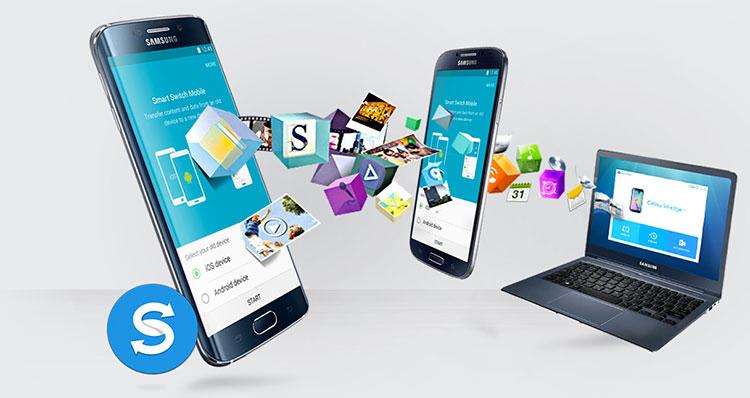 Immagine sul trasferimento dati su dispositivi Samsung Galaxy