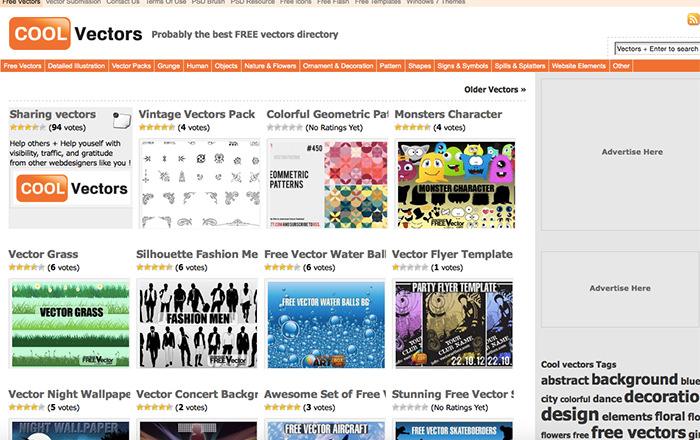 Immagine del sito Cool Vectors