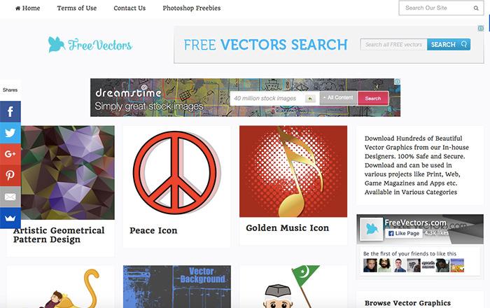 Immagine del sito FreeVectors