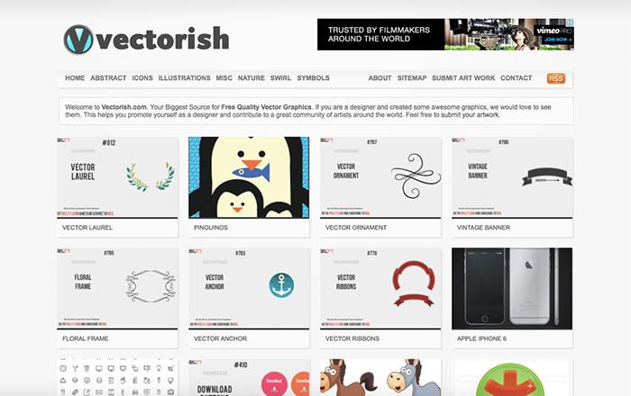 Immagine del sito Vectorish
