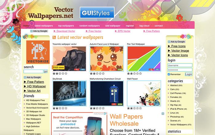 Immagine del sito Vector Wallpapers