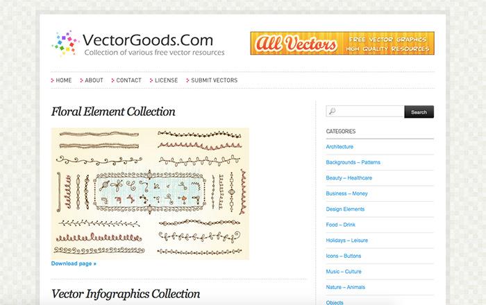 Immagine del sito VectorGoods