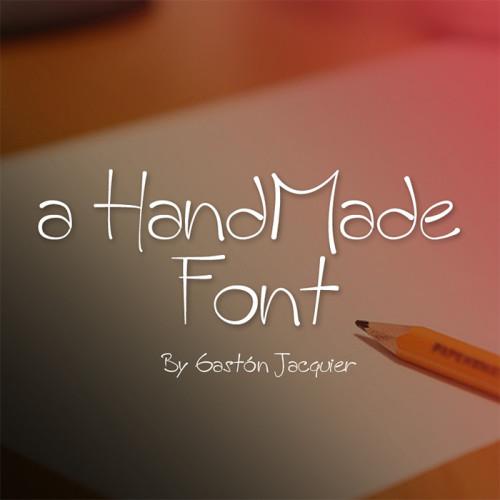 Esempio del font in stile scrittura a mano n.7