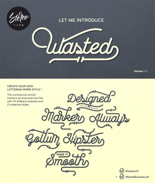Esempio del font in stile scrittura a mano n.17