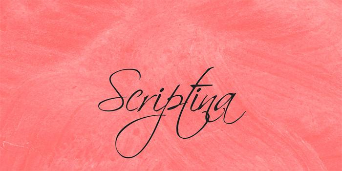 Esempio del font in stile scrittura a mano n.18