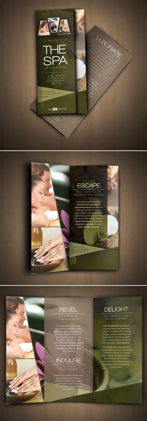 Fabuleux 10 Esempi di Brochure per SPA molto Eleganti | CreaGratis.com NY74