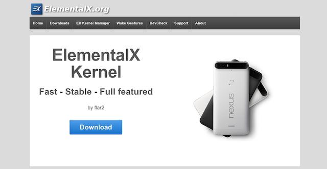 Schermata del sito ElementalX.org