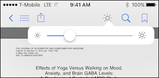 Modificare la luminosità dei file PDF con iBooks