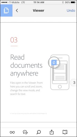 Schermata di lettura dei PDF con Adobe Acrobat