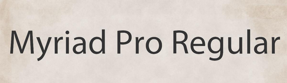 Immagine del font Myriad Pro